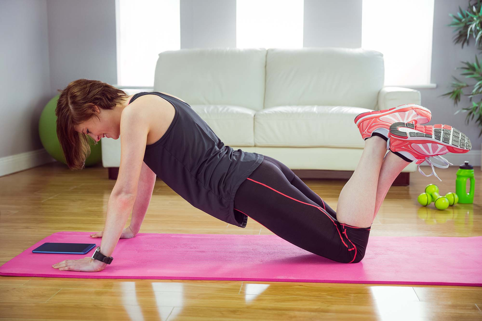 Woman doing press up